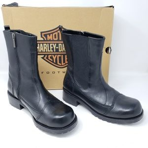Harley Davidson Leather Dusty Comfort Gore Boots 9